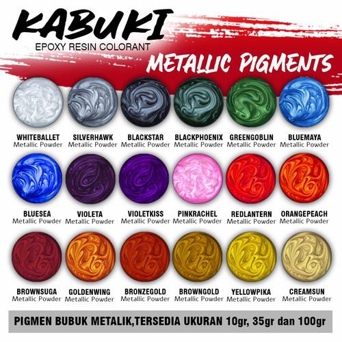 Foto Produk PIGMEN / PIGMENT RESIN EPOXY KABUKI Metalic Powder - 10 dari Ru Yi collection