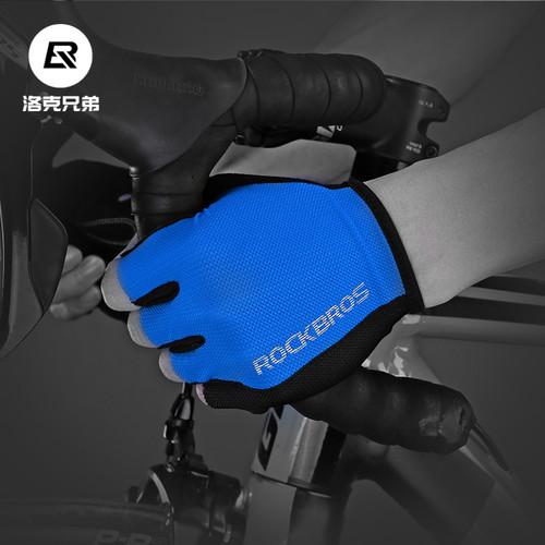 Foto Produk (Cuci Gudang) Sarung Tangan Sepeda Rockbros S099 - Half Finger Gloves - Biru, L dari Ezzy Connect