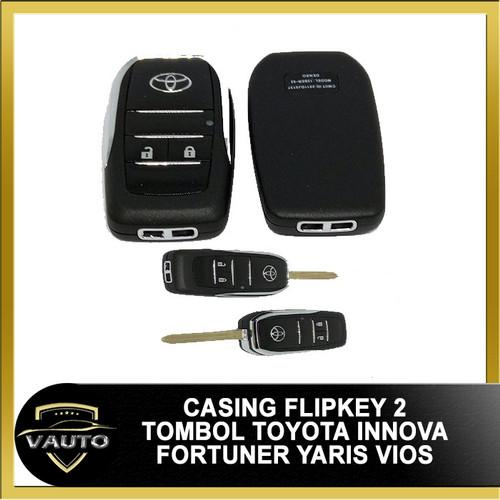 Foto Produk Casing Kunci Lipat Flip Key Toyota 2 Tombol Innova Fortuner Yaris Vios dari vauto