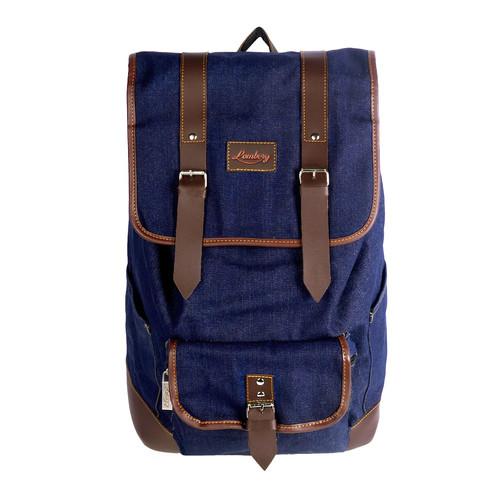 Foto Produk Lomberg Malacca Navy - Tas Denim Ransel Backpack - Biru Tua dari Lomberg Bags