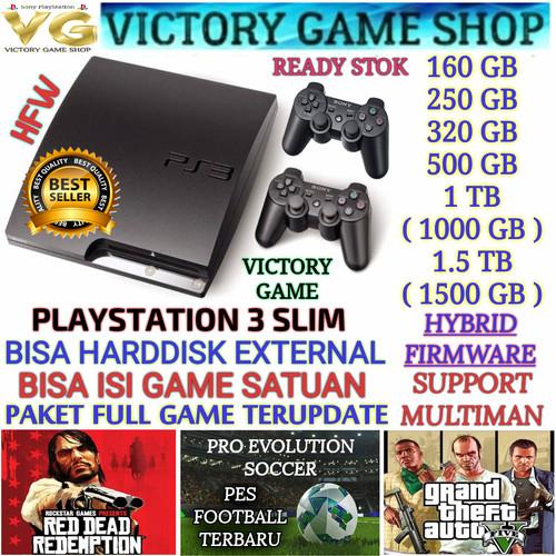 Foto Produk PS3 PS 3 PLAYSTATION 3 SLIM 500GB OFW/ + STIK + FULL GAME (BISA MILIH) - HDD 160GB, TANPA STIK dari Victory Game
