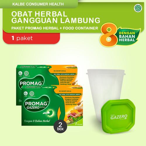 Foto Produk Promag Herbal (Gazero) Obat Herbal Gangguan Lambung & Food Container dari Kalbe Consumer Health