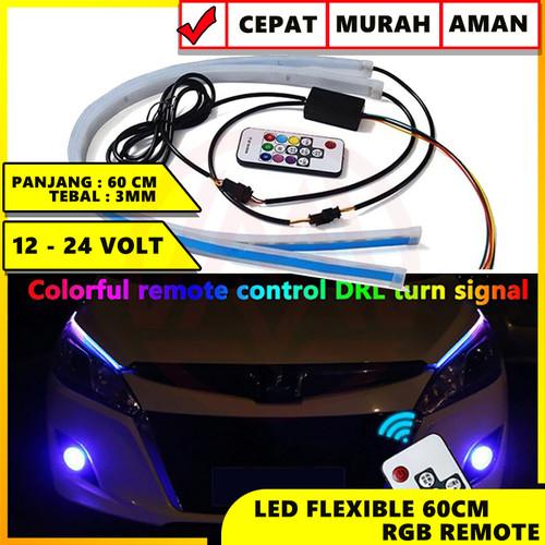 Foto Produk LED SLIM ALIS LED FLEXIBLE 60 CM DRL FLEKSIBLE 60CM RGB + REMOTE SIGN dari Modifikasi Market