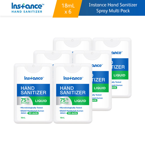 Foto Produk Instance Hand Sanitizer Spray 18 mL Multipack 6 Pcs dari Kino Store ID