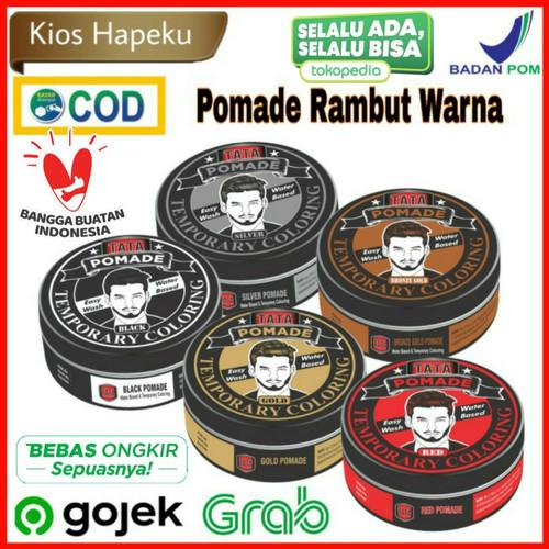 Foto Produk Tata Pomade temporary hair coloring easy wash/water based 75gr - Hitam dari kios hapeku