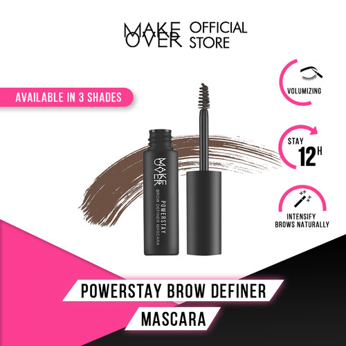 Foto Produk MAKE OVER Powerstay Brow Definer Mascara - 02 Chocolate dari Make Over Official Shop