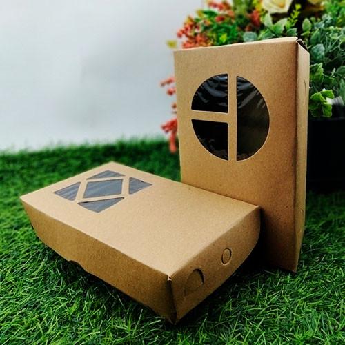 Foto Produk Kotak Makanan Penyimpanan Dos Laminasi Jendela 18 x 11 x 5 dari Rahmah Tas Kertas dan Kemasan