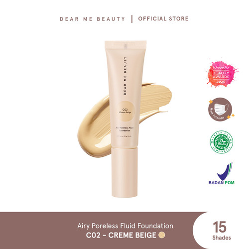 Foto Produk Dear Me Beauty Airy Poreless Fluid Foundation - Creme Beige dari Dear Me Beauty