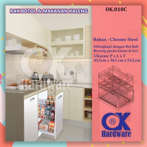 Foto Produk Rak Tarik Botol Mangkok Kaleng OK Hardware OK 010C for Kitchen Cabinet dari WINSTON SUKSES ABADI