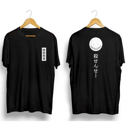 Foto Produk Kaos Pria Distro Japanese Kanji OP102 Fashion Pria Baju Pria - Hitam, L dari MYPCollection