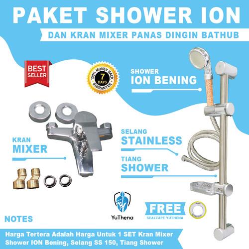 Foto Produk Kran Air Panas Dingin dan Tiang Shower Ion YuThena Shower Mandi dari YuThena Official Store