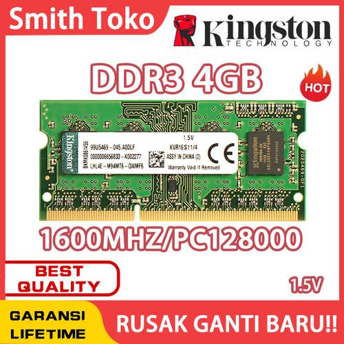 Foto Produk Ram laptop Kingston SODIMM 4GB DDR3 12800/ DDR3-1600 4G sodim dari SmithToko