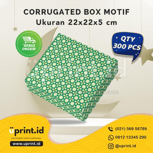 Foto Produk CORRUGATED MOTIF LEBARAN|22x22x5 cm||BOX HAMPERS |QTY 300pcs|BBS22-042 dari Uprint.id