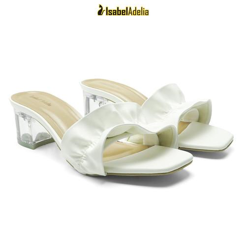 Foto Produk IsabelAdelia RAYLIA Block Heels Sepatu Hak Transparan - Putih, 37 dari Isabel adelia official