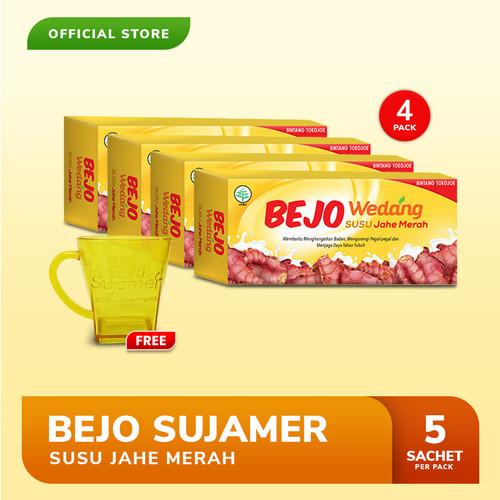 Foto Produk Bejo Susu Jahe Merah (SUJAMER) 4 Pack ( 20 Sachet ) FREE Gelas dari Bintang Toedjoe Official