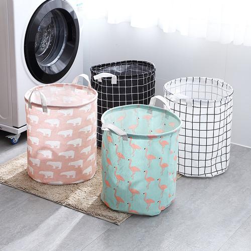 Foto Produk Keranjang Baju Laundry Lipat Serbaguna / Tempat Penyimpanan Baju - Hijau Bangau dari MitraBotol