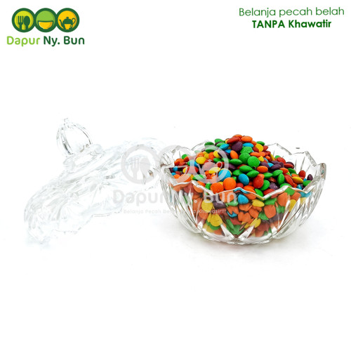 Foto Produk Toples Kristal Kaca 14,5cm/Glass Crystal Candy Jar/Toples Permen dari Dapur Ny.Bun