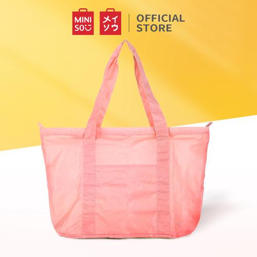 Foto Produk MINISO Totebag Tas Tote Tas Travel Bag Lipat Ringan Olahraga Sport - Merah Muda dari Miniso Indonesia