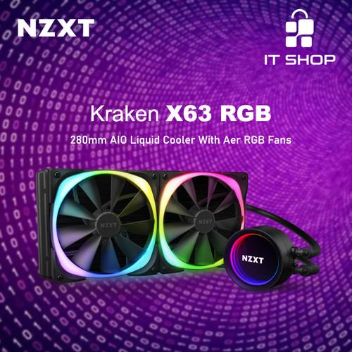 Foto Produk NZXT Liquid Cooler Kraken X63 RGB dari IT-SHOP-ONLINE