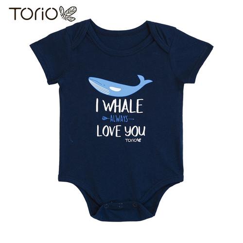 Foto Produk Torio Romper Bodysuit Baju Bayi Pakaian Bayi Whale Loving - 6-9 bulan dari Torio