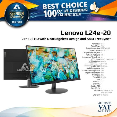 "Foto Produk Monitor LED Lenovo L24E L24E-20 24"" 1080p VGA HDMI Freesync dari Abditama Official"