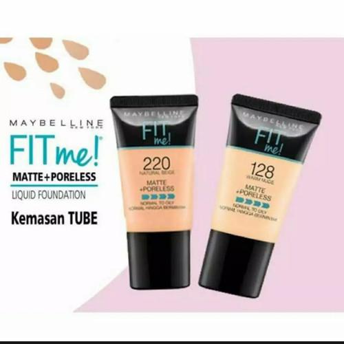 Foto Produk (TUBE) Maybelline Fit Me Matte + poreless Liquid Fondation 220 dan 128 dari Recehtoko