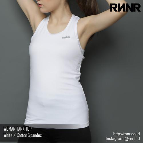 Foto Produk Baju Senam / Baju Yoga / Olahraga Wanita kaos Tank Top spandex putih - Putih dari rnnr