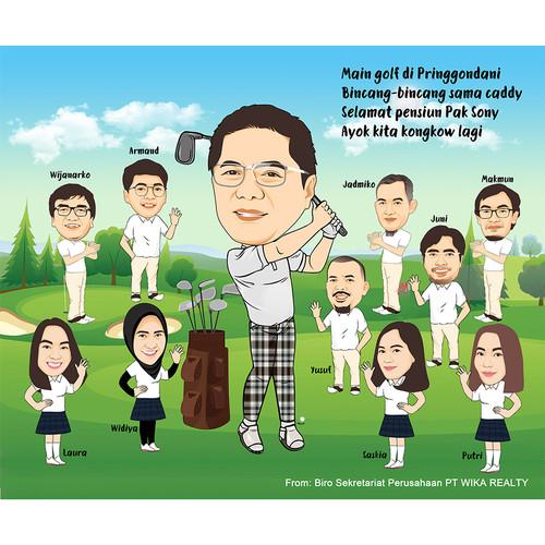 Foto Produk Karikatur Digital / Sketsa Wajah Full Badan / Pengerjaan Cepat 2 hari dari ID Karikatur