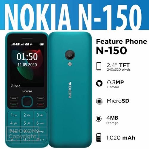 Foto Produk Nokia Feature Phone N-150 New 2020 Dual Sim Garansi Resmi - Cyan dari Indokom Store