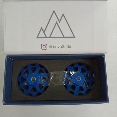 Foto Produk PULLEY NOVA RIDE SHIMANO 11/11T CERAMIC - BLUE dari Technobike