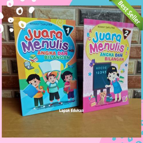 Foto Produk Buku Belajar TK PAUD   Juara Menulis Angka dan Bilangan   Jilid 1 - 2 dari Lapak Edukasi
