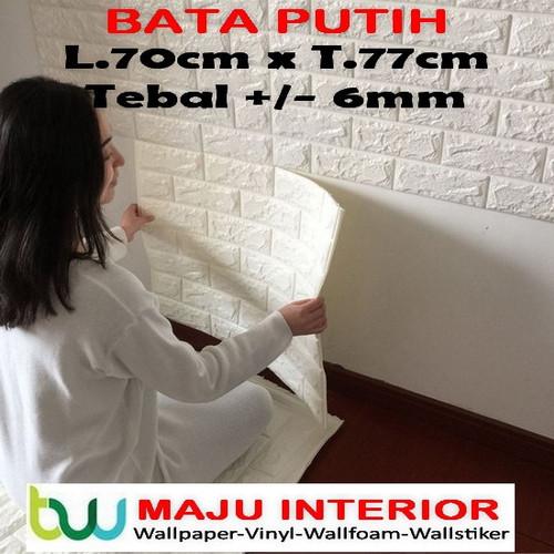 Foto Produk Wallpaper Dinding 3D 70 X 77 cm - 3D Foam - Bata Putih 6mm dari Maju Interior