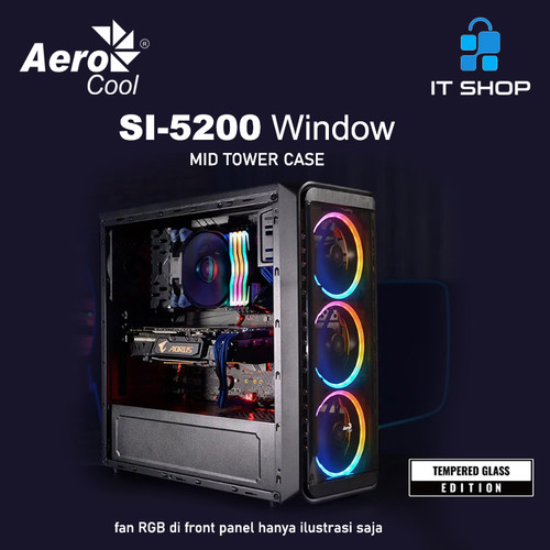 Foto Produk AeroCool Casing SI-5200 Window dari IT-SHOP-ONLINE