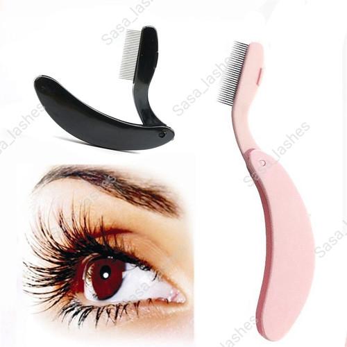 Foto Produk Sisir Bulu Mata/Sisir Alis/Eyelash Comb lipat - Hitam dari Sasa_Lashes