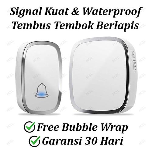 Foto Produk Bel Rumah Wireless Door Bell Waterproof Pintu 1 Receiver dari M3L