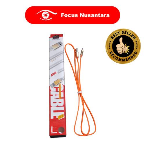 Foto Produk UCONN Fastcharging Cable for Iphone (Orange) dari Focus Nusantara