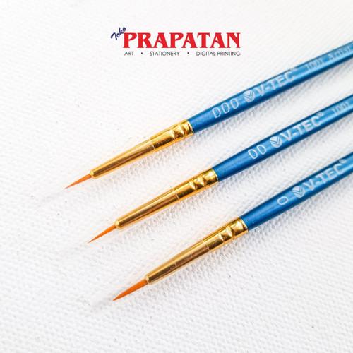 Foto Produk Kuas Lukis V-TEC 1001 size 000 - 0 / V-TEC Paint Brush - 00 dari Toko Prapatan-alat lukis
