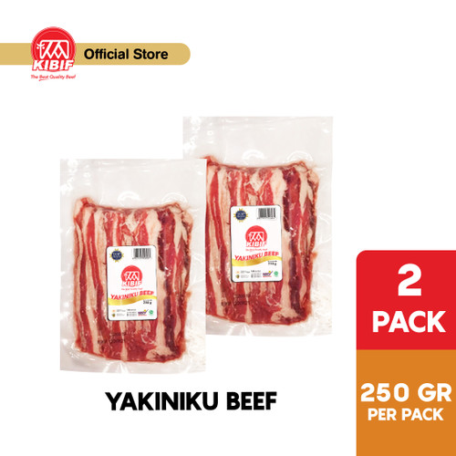 Foto Produk KIBIF Beef Slice - Yakiniku / Sukiyaki Beef Bowl @ 250 Gr Multipack dari KIBIF Official Store