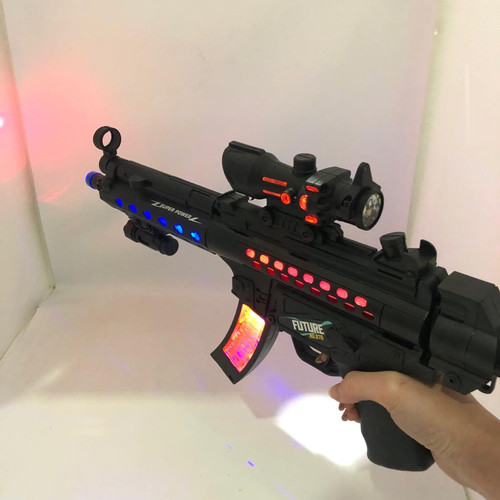 Foto Produk mainan anak pistol electric suara ,lampu , sense of blow/ senapan dari bintangjaya toys