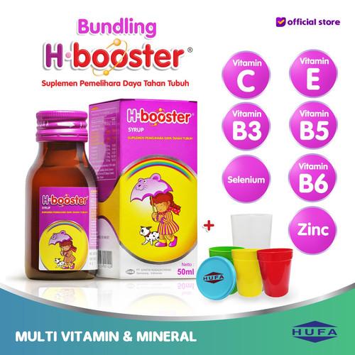 Foto Produk H-Booster - Multivitamin Vitamin C Daya Tahan Tubuh Anak - 1fls dari HUFA Official Store