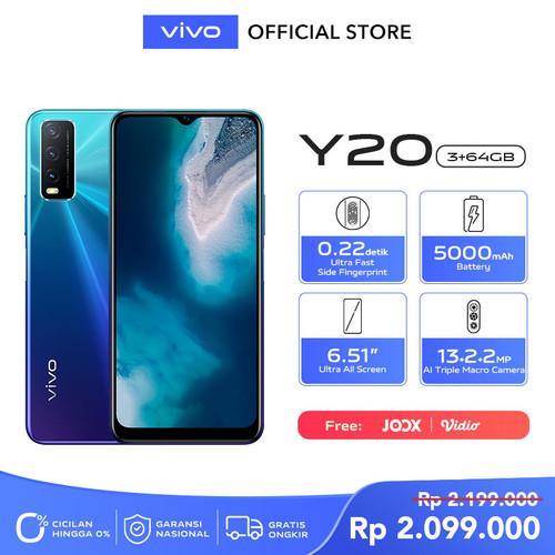 Foto Produk Vivo Y20 [3/64] RAM 3GB ROM 64GB Nebula Blue dari Vivo Indonesia