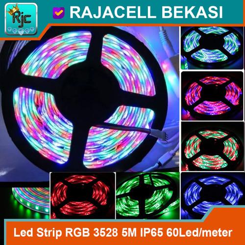 Foto Produk LED Strip RGB 3528 5M Roll 60Led/meter IP65 Waterproof High-Quality dari RAJACELL BEKASI
