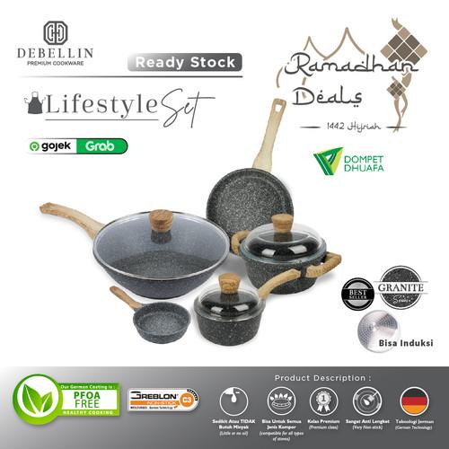 Foto Produk Debellin Premium Cookware Set - Lifestyle Granite Package dari Debellin Cookware