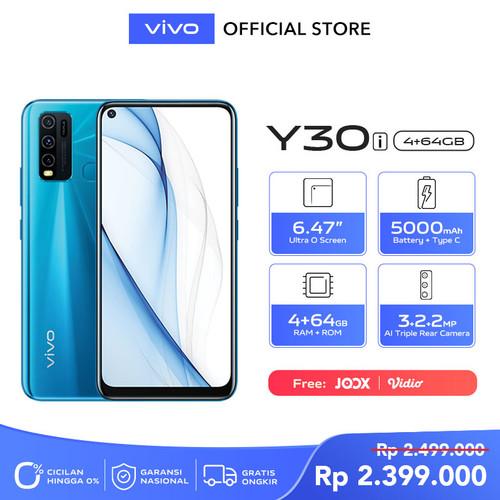 Foto Produk Vivo Y30i [4/64] RAM 4GB ROM 64GB Dazzle Blue dari Vivo Indonesia