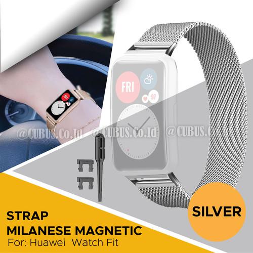 Foto Produk Strap Bracelet Milanese Magnetic Loop Metal For Huawei Watch fit - Silver dari Cubus_Co_ID
