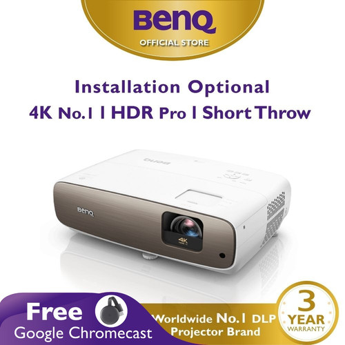 Foto Produk Proyektor BenQ W2700 True 4K HDR DLP UHD Short Throw Home Projector dari BenQ Official Store