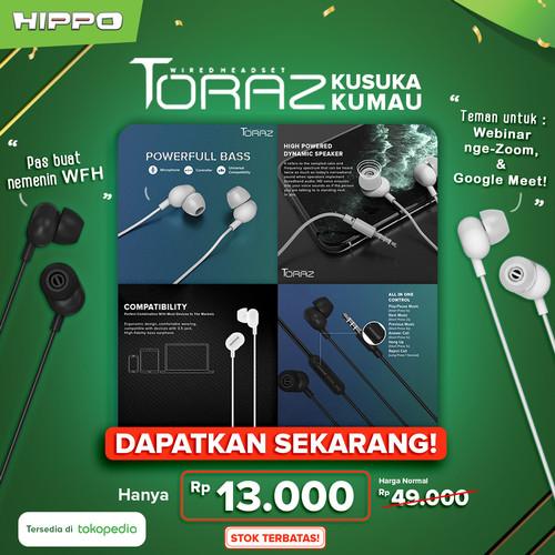 Foto Produk Hippo Handsfree Earphone Stereo: Toraz - Putih dari HIPPO Official Surabaya