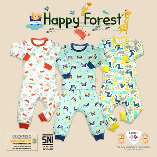Foto Produk LIBBY BABY - 3STEL HAPPY FOREST Setelan Panjang Kancing Pundak - SMALL dari Chubby Baby Shop