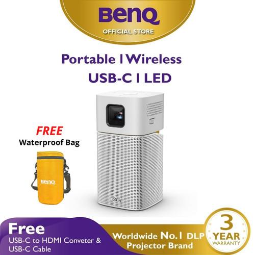 Foto Produk Mini Wireless Projector BenQ GV1 Portable Bluetooth Speaker USB-C HDMI dari BenQ Official Store