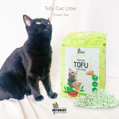 Foto Produk PASIR KUCING GUMPAL SOYA– TOFU CLUMPING CAT LITTER- ARTHACAT - GREEN TEA dari arthacat.id